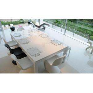 WHITE POWDER COATED TABLE