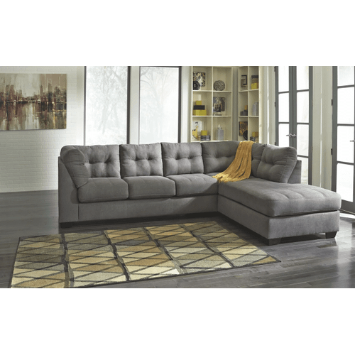 Maier - Charcoal - 2-Piece Sectional with Right Facing Chaise