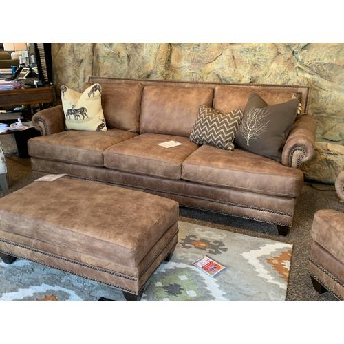 Stallone Upriver Rawhide Leather Sofa, Chair and Ottoman