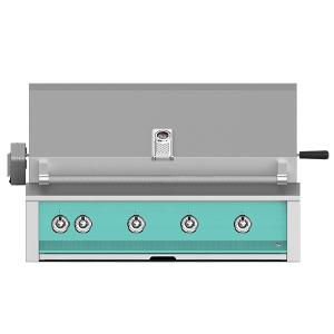 """Hestan - Aspire By Hestan 42"""" Built-In Grill With U-Burner, And Rotisserie NG Turquoise"""