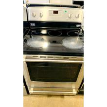 See Details - USED- Maytag® 30-inch Wide Electric Range with Convection and Power Element - 6.2 cu. ft e30ssGLAS-U  SERIAL #99