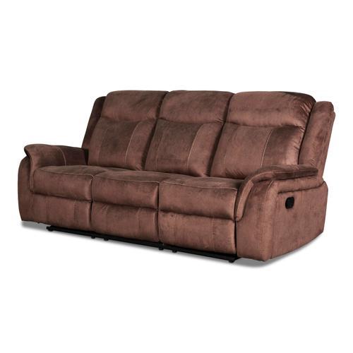 New Classic Furniture - Cavett Reclining Sofa in Cocoa Fabric