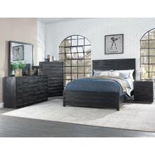 Villa 4pc Bedroom Set with Queen Bed (Bed,Dresser,Mirror and Chest)