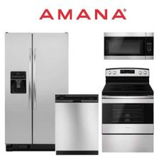 Amana 4-piece Stainless Steel Kitchen