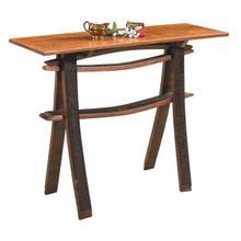 Amish Barrel Detail Sofa Table