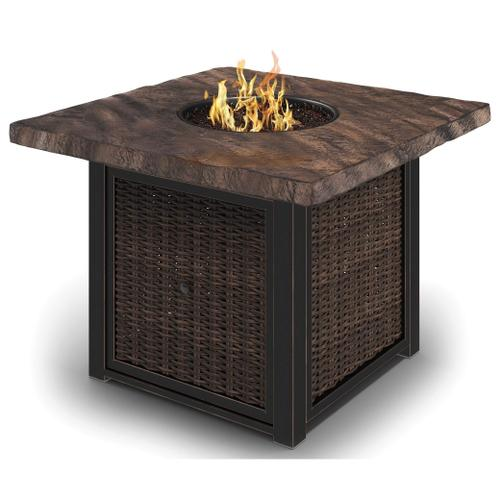 Alta Grande Square Fire Pit Table