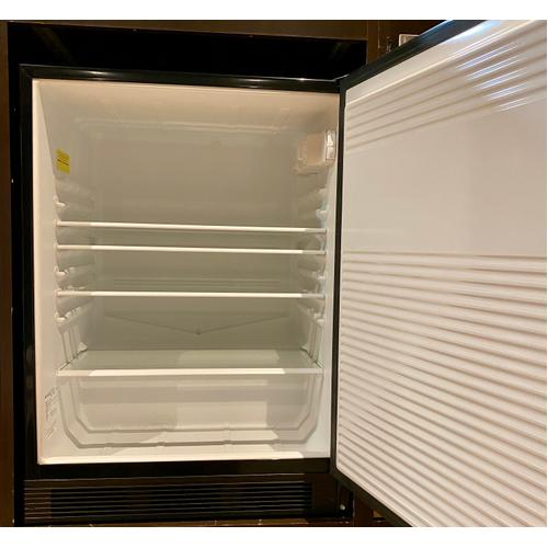 Summit ALB753B   ADA Compliant Built-in Undercounter All-refrigerator for General Purpose Use, Auto Defrost W/ss Door Frame for Panel Inserts and Black Cabinet