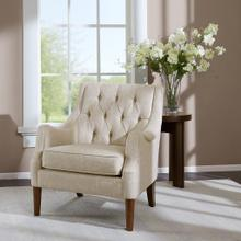 See Details - BUTTON TUFTED ACCENT CHAIR - BEIGE