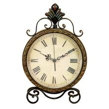 See Details - RUSTIC WROUGHT IRON METAL CLOCK