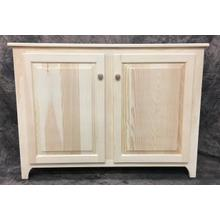 Maine Made Large Hall Cupboard 47W X 34H X 12.5D Pine Unfinished