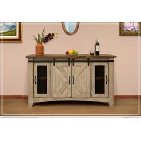 "Pueblo 4 Doors, 60"" TV Stand Gray"