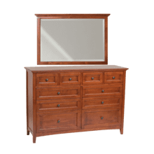GAC 10-Drawer McKenzie Dresser and Mirror