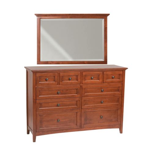 Whittier Wood - GAC 10-Drawer McKenzie Dresser and Mirror