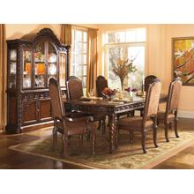 View Product - North Shore Brown Finish 7 Pc Formal Dining Room by Ashley, Model D553