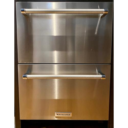"""KitchenAid KUDR204ESB   24"""" Stainless Steel Double Refrigerator Drawer Stainless Steel"""