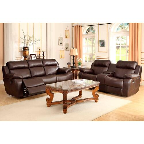 Marille- Brown Reclining Sofa and Loveseat