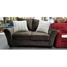 View Product - Stanton Loveseat in Ace Chocolate with Bunko Mocha  Pillows
