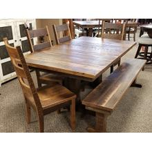 See Details - Reclaimed Barnwood Dining Table