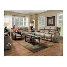 Mia Home Power Reclining Loveseat - Color Badlands Mushroom