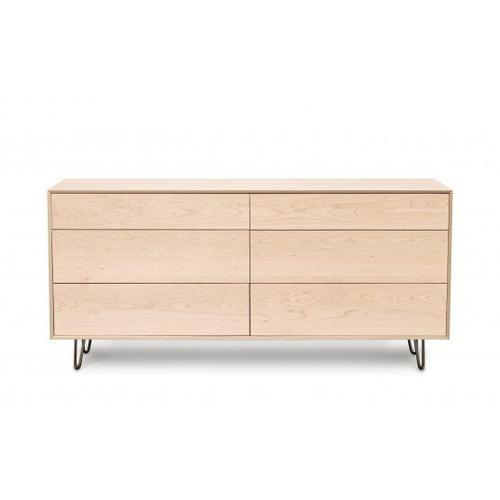CANVAS 6 DRAWER WITH PUSH TO OPEN DRAWERS DRESSER