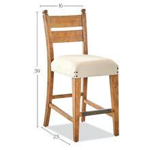 Coming Home Counter Height Chair in Wheat Finish