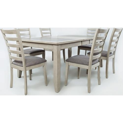 Tiled Dining Table w/ Drop Leaf & 4 Chairs