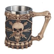 """Skull Stainless Mug 5 1/2"""" high"""