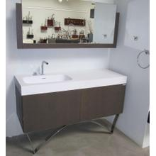 Discontinued floor display vanity with countertop and chrome legs