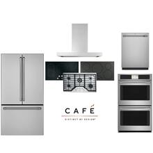 Cafe Stainless Built In 5 Piece Package with Gas, Induction or Electric Cooktop & Double Wall Oven