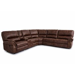Cheers - Cheers Power Reclining Sectional in Performance Fabric