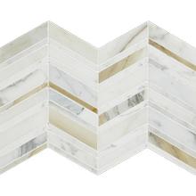 See Details - Chevron Mosaic Calacatta