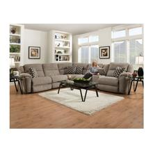 Mia Home Power Reclining Sectional in Gusto Platinum Fabric