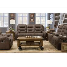 COWBOY BROWN GLIDING RECLINING LOVESEAT