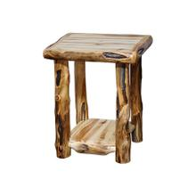 """End Table Wild Panel Gnarly Log 21"""""""