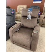 Southern Motion Zero Gravity Recliner with power headrest . Power Heat & Message . 35W x 42D x 42H in . Legacy Latte