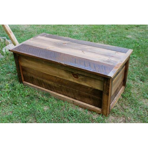Cozy Creations Collection - Relaimed Barnwood Lift Top Coffee Table