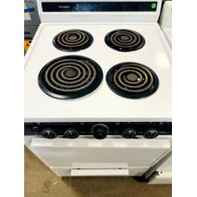"USED- Hotpoint® 24"" Compact Electric Range White- E24WHCOIL-U SERIAL #3"