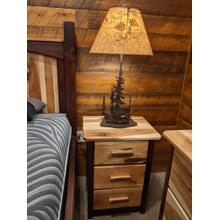 See Details - Promo Hickory 3-Drawer Nightstand