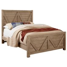 Highlands 3-Piece Queen Size Bed in Sandstone Finish