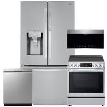 See Details - Stainless Steel Smart wi-fi Enabled 30 cu. ft. Door-in-Door Refrigerator with Craft Ice Maker- 4 Pc Package