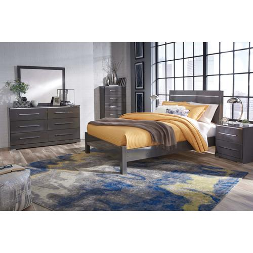 Steelson - Gray 6 Piece Bedroom Set