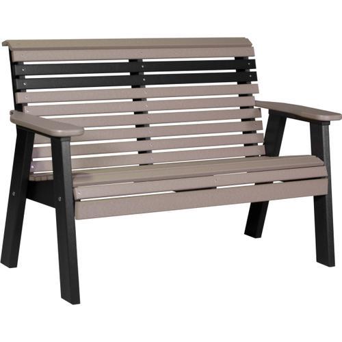 Plain Bench 4' Weatherwood and Black
