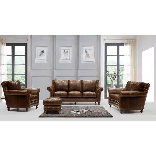 2239 Butler Chair Brown (100% Top Grain Leather)