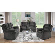 View Product - Reclining Sofa & Loveseat Set, Charcoal Fabric
