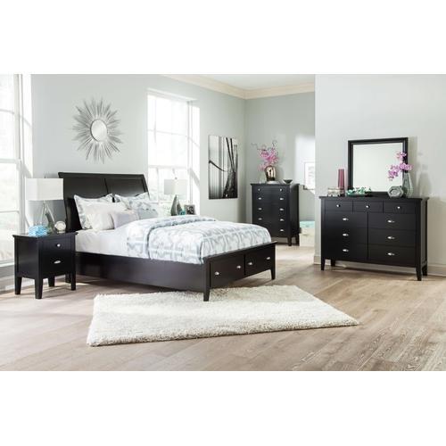 Ashley Furniture - Ashley Furniture B591 Braflin - Black Storage Bedroom set Houston Texas USA.