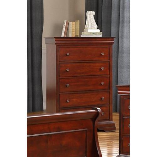 New Classic Furniture - VERSAILLES Chest - BORDEAUX