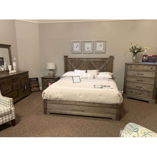 Double X-Back King Bedroom Group with Dresser, Chest and Nightstand