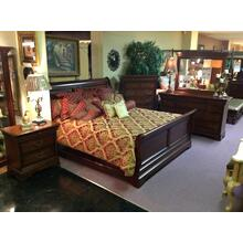 Queen Bed, Dresser, Mirror, Chest, and Nightstand