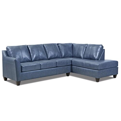 Dundee- Shale Genuine Leather Sectional