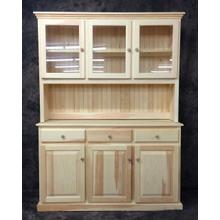 See Details - Maine Made 076/077 Triple Hutch and Buffet 54.5W X 34H X 18D Pine Unfinished